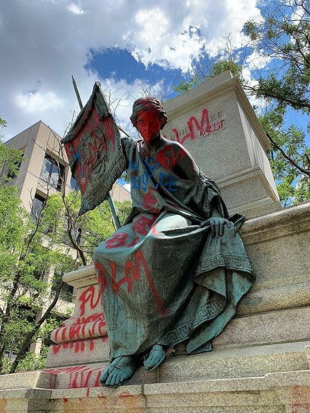 Albert Pike Memorial Vandalism